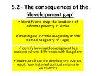 5 2 the consequences of the development gap