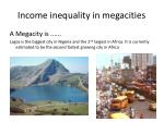 income inequality in megacities