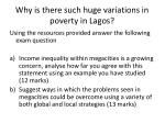why is there such huge variations in poverty in lagos