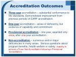 accreditation outcomes
