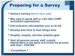 preparing for a survey1