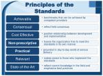 principles of the standards