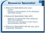 resource specialist