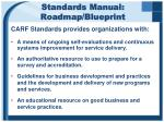 standards manual roadmap blueprint