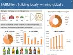 sabmiller building locally winning globally