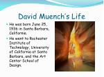 david muench s life