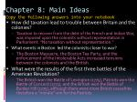 chapter 8 main ideas copy the following answers into your notebook