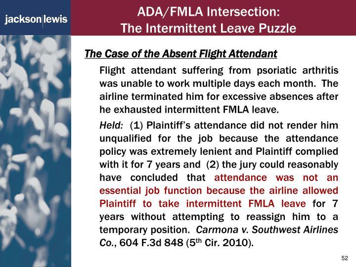 ADA/FMLA Intersection: