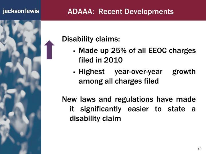 ADAAA:  Recent Developments