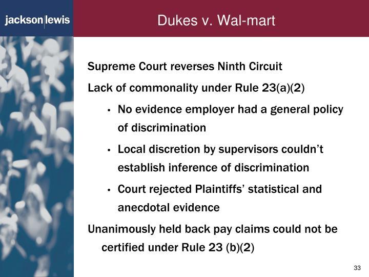 Dukes v. Wal-mart