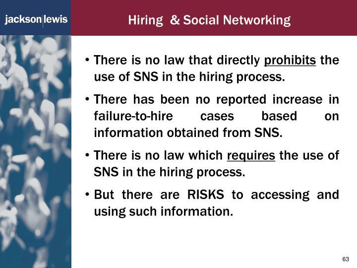 Hiring  & Social Networking