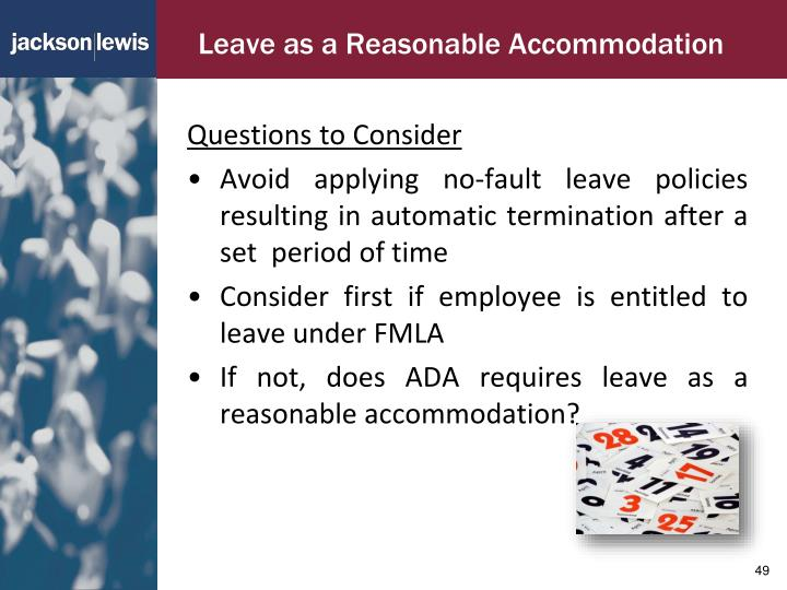 Leave as a Reasonable Accommodation