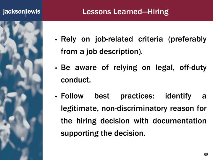 Lessons Learned—Hiring