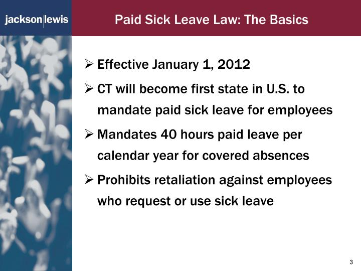 Paid sick leave law the basics