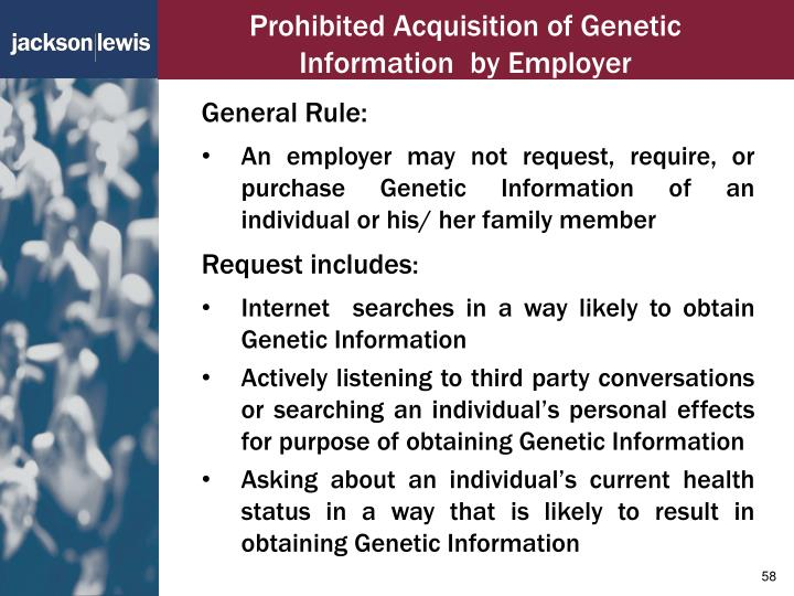 Prohibited Acquisition of Genetic Information  by Employer