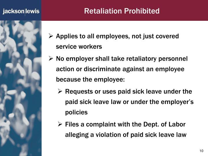 Retaliation Prohibited