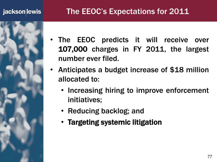 The EEOC's Expectations for 2011