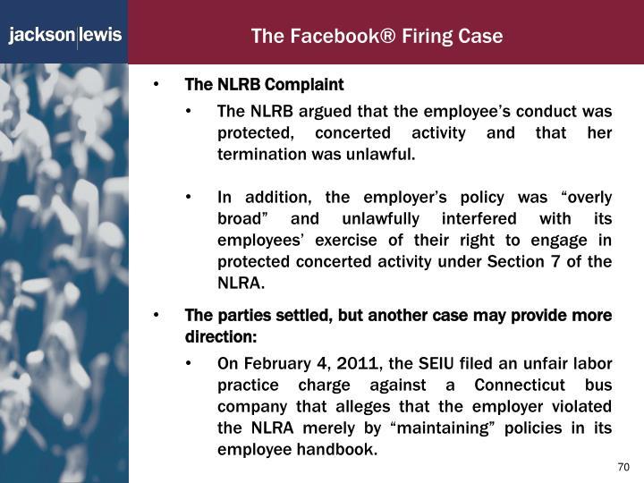 The Facebook® Firing Case