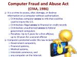 computer fraud and abuse act cfaa 1986