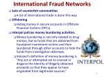 international fraud networks