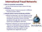 international fraud networks