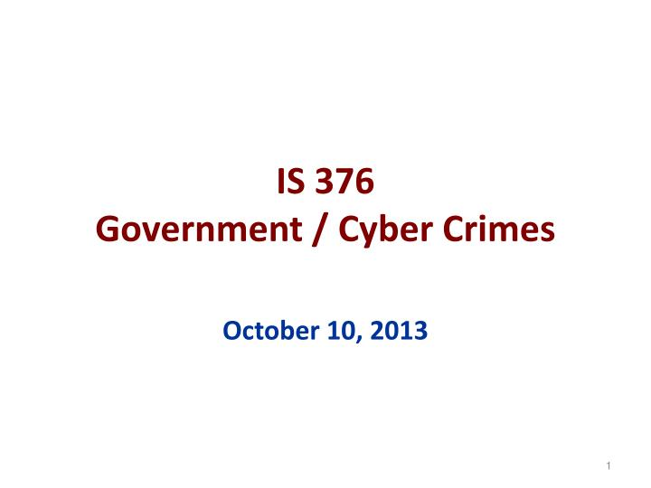 is 376 government cyber crimes n.