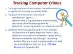 tracking computer crimes