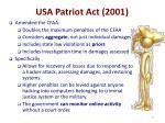 usa patriot act 2001