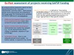 ex post assessment of projects receiving gafsp funding