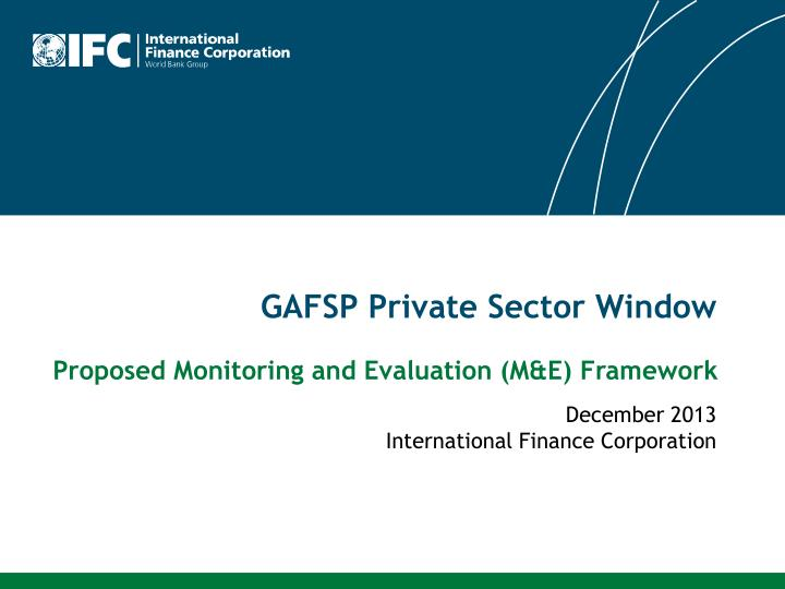 gafsp private sector window n.