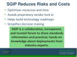 sgip reduces risks and costs