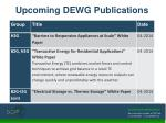 upcoming dewg publications1