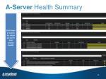 a server health summary