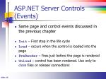 asp net server controls events