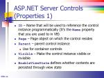asp net server controls properties 1