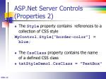 asp net server controls properties 2