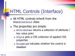html controls interface
