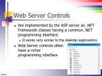web server controls