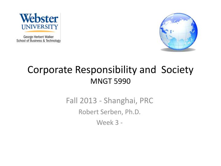 corporate responsibility and society mngt 5990 n.