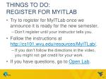 things to do register for myitlab