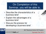 on completion of this seminar you will be able to