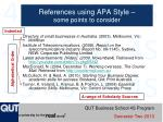references using apa style some points to consider