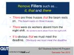 remove fillers such as it that and there