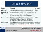 structure of the brief