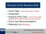 structure of this business brief