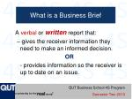what is a business brief