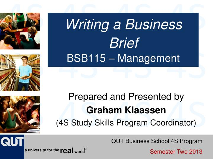 writing a business brief bsb115 management n.