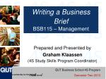 writing a business brief bsb115 management