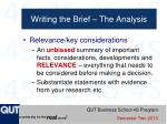 writing the brief the analysis1