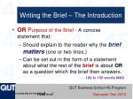writing the brief the introduction